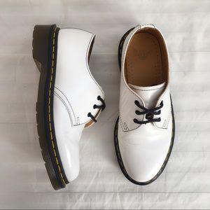 Dr Martens 461 White Low Shoes